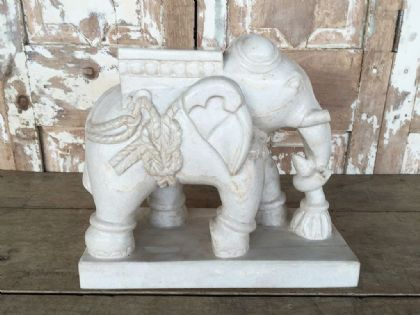 Hand Carved Marble Elephant, Udaipur <b>SOLD<b>